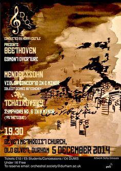 Durham University Orchestral Society Michaelmas Symphony Orchestra Concert poster