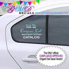CAR PACKAGE Origami Owl Decals Personalized Name Advertising - Business car window sticker