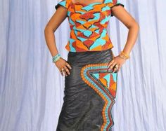 Women's maxi dress gold embroidery by NewAfricanDesigns on Etsy