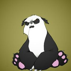 old grumpy panda
