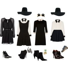 ahs/ american horror story coven diy witch costume by zombiemaggie on Polyvore featuring MANGO, Ted Baker, Glamorous, Karl Lagerfeld, TWISTY PARALLEL UNIVERSE, L'Autre Chose, Head Over Heels by Dune, Yves Saint Laurent, Nine West and DOMINIQUE LUCAS