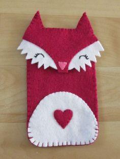 Super cute handmade fox felt phone cover by MissFeltly on Etsy, £5.00