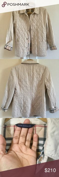 Auth Burberry quilted jacket The original and classic Burberry quilted jacket.  Suited for year around wear. In pristine conditions. Fits XS/S Burberry Jackets & Coats