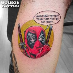 Fun & Hilarious Deadpool Tattoos More