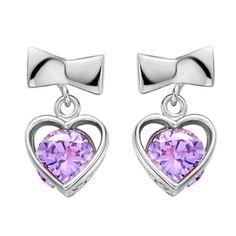 Virgin Shine Platinum Plated Purple Rhinestone Round Heart Earrings VIRGIN SHINE http://www.amazon.co.uk/dp/B00K4E8KYU/ref=cm_sw_r_pi_dp_GdfLub1PTC6X7