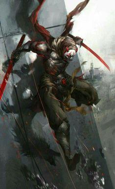 m Tiefling Rogue Thief hilvl urban city escaping building tower - - - Overwatch Oni Genji, Genji Oni, Overwatch Comic, Overwatch Memes, Overwatch Fan Art, Arte Ninja, Ninja Art, Fantasy Character Design, Character Art