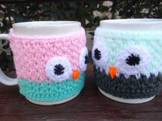 Items similar to Owl Crochet Mug Sweater,Cosy Mug Sweater , Owl mug sweater on Etsy Owl Mug, Cosy, Mugs, Trending Outfits, Unique Jewelry, Handmade Gifts, Crochet, Tableware, Sweaters