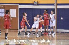 Girls Basketball, the Fleetwood Tigers vs. the Muhlenberg Muhls at Muhlenberg High School Thursday evening January 12, 2017. Fleetwood won 40-33. Photo by Ben Hasty