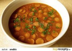 Czech Recipes, Ethnic Recipes, Soup Recipes, Cooking Recipes, Chana Masala, Soups And Stews, Bon Appetit, Frankfurt, Food And Drink