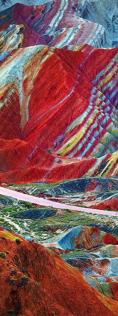 The Zhangye Danxia Landform Geological Park in Gansu Province | China