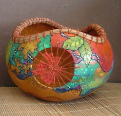 Gourd Bowl by Maureen @ newseasondesigns on Etsy