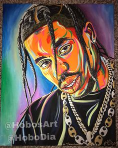 """My Travis Scott """"HOBO STYLE"""" painting. By , prints available on my Etsy website! Hobo Style, Travis Scott, Have Time, The Dreamers, Disney Characters, Fictional Characters, The Past, Poster Prints, My Arts"""