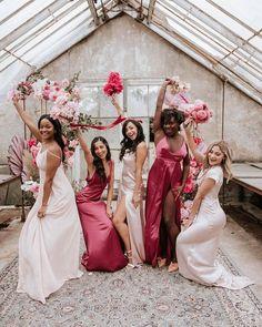 Wedding Chicks® (@weddingchicks) • Instagram photos and videos #bridesmaids #bridesmaiddresses #pinkweddingideas