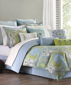 Look what I found on #zulily! Periwinkle & Green Mediterranean Comforter Set #zulilyfinds