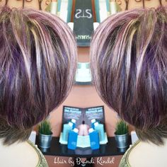 Had some fun with Diane's hair today! Added highlights everywhere but her nape, then came back and added purple lowlights