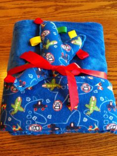 Minky Blanket large double sided royal blue by BlessingsandBabies, $30.00