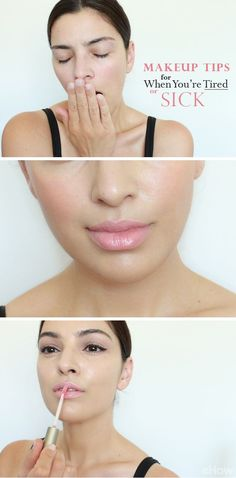 Sick and feeling pretty gross? These makeup tricks will help you look more awake and adds the right amount of color back into your face. See which products and tips will do just that here: http://www.ehow.com/info_12340463_makeup-tips-tired-sick.html?utm_source=pinterest.com&utm_medium=referral&utm_content=curated&utm_campaign=fanpage