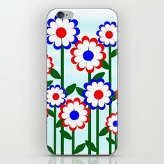 Retro Summer #Flowers  design is available on  home decor, tee shirts, prints and more by #Gravityx9. Worldwide shipping available at Society6