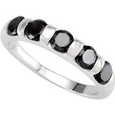 Sterling Silver Fashion Jewelry Stackable Black Colored CZ Ring (9) * Check out the image by visiting the link.