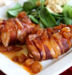 Apple BBQ Bacon-Wrapped Chicken