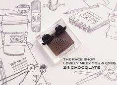 #oligodang #cosmetic #makeup #K-beauty 올리고당 메이크업 더 페이스샵 러블리 믹스 유 & 아이즈 24. 초콜릿