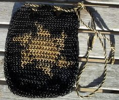 bag042 #White #Mana Deck Bag. $80.00, via #Etsy.  #handmade #chainmaille #mtg #magic #game #games #gamers
