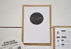 Jenni & Tim's Modern Wedding Stationery Modern Wedding Stationery, Wedding Invitation Cards, Reception, Paper Board, Wedding Invitations, Receptions