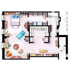 The apartment of Carrie Bradshaw. Yes. Sex and the City. If I were single I would want a place like this.