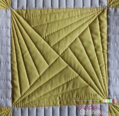 How to: Free Motion Quilt Spinning X Block - Sunday Stitches
