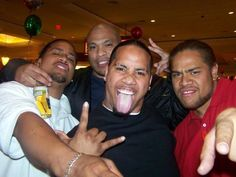 Jonathan and Joshua Fatu having a good time with their family and friends