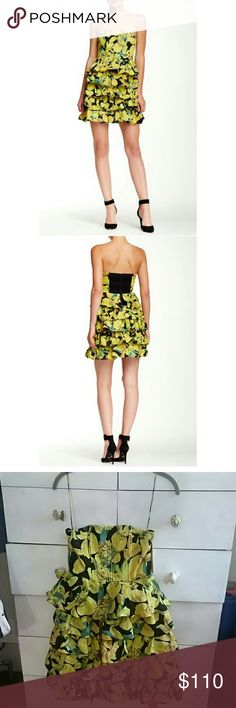 Alice Olivia Sunny Iris Dress New With Tags. Perfect for weddings, cocktails. %100 silk. Bust 12, Length 27,Waist 14. Alice & Olivia Dresses