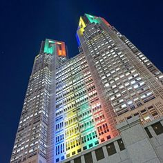 Tokyo Met. Government Office - largest tower, has open observation decks
