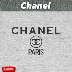 8fc5d01f7a5802 Chanel Paris - Embroidery Design Instant Download #EmbroideryDownloadCom