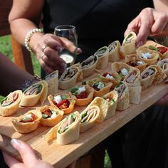 Canapés are a great way to start the wedding festivities! #countryweddings #catering #weddings #eatyourgreens #eyg2015