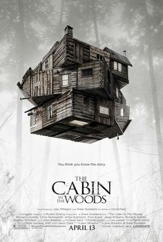 Cabin in the Woods poster.. Kind of a Rubik Cube house with sharp textures.