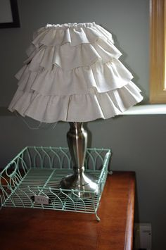 Ruffle lampshade tutorial no sew tutorials pinterest ruffles tutorials pinterest ruffles ruffle lamp shades and tutorials mozeypictures Gallery
