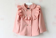 Perfect+Jacket+for+winter+and+jumping+into+spring!+    -Cotton+and+Spandex  -Silver+Buttons+  -Turn+Down+Collar    Comes+in+2T+to+girls+6/7.    Ships+in+12-18+days