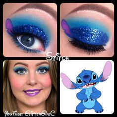 Stitch Makeup. YouTube channel: https://www.youtube.com/user/GlitterGirlC