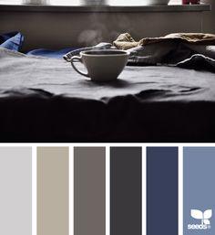 Morning Tones color palette via Paint Schemes, Colour Schemes, Color Combos, Color Patterns, Colour Pallette, Design Seeds, Colour Board, Deco Design, World Of Color