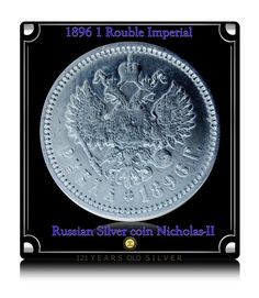 1896 1 Rouble Imperial Russian Silver coin Nicholas-II - RARE COIN