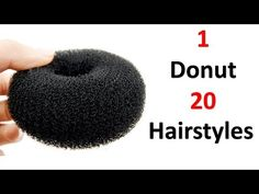 10 unique & antique hairstyles with in 1 donut Easy Bun Hairstyles, Simple Wedding Hairstyles, Party Hairstyles, Girl Hairstyles, Running Late Hairstyles, Beautiful Hairstyles, Beach Hairstyles, Hairstyle Wedding, Curly Hair Styles