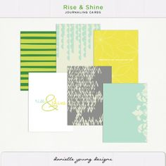 Oscraps :: Shop by Designer :: Danielle Young :: Journaling Cards :: Rise and Shine Journaling Cards