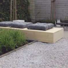 In our garden.. The bench needs only a color.. White wash or dark grey ..