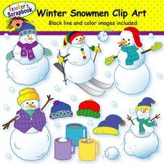 Winter Snowmen Clip Art