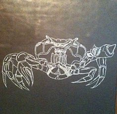 glass crab engraving by Joanna Duncan