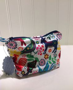 Folkloric animals makeup bag by PhoebeMade on Etsy, $15.00