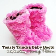 Toasty Tundra Baby Boots Sewing Pattern