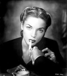 stunning looking Lauren Bacall from retrogoddess on tumblr.