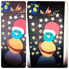 4.b's juledør. Jul i rummet. Julen 2015.