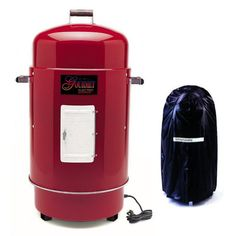Designed For Perfect Product Brinkmann The Gourmet Electric Smoker Grill With Vinyl Cover Finish Red Now Find Savings Extended Order